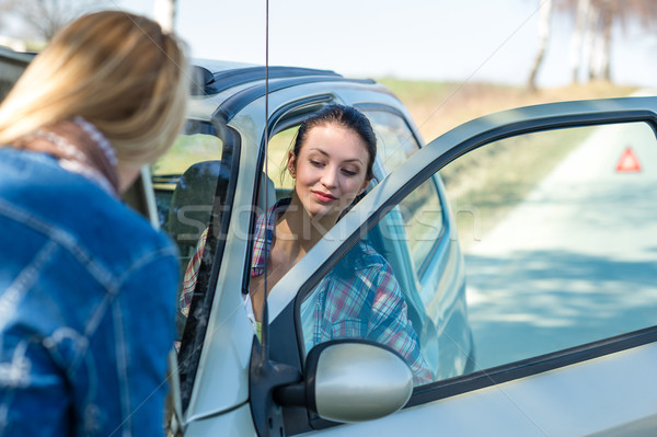 Starting broken car two women have problems Stock photo © CandyboxPhoto