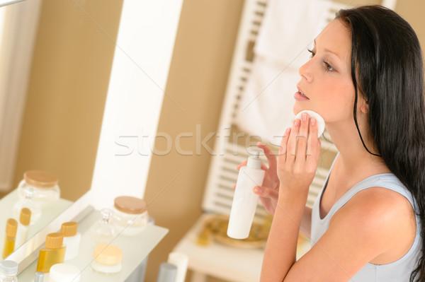 Bagno clean faccia trucco rimozione Foto d'archivio © CandyboxPhoto