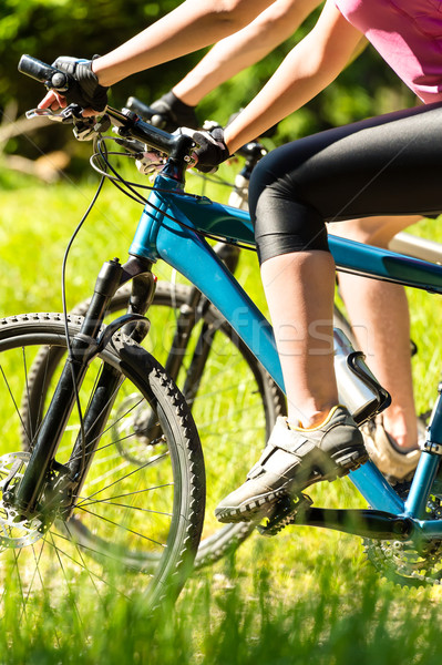 Mountain bikers wearing cycling shoes Stock photo © CandyboxPhoto