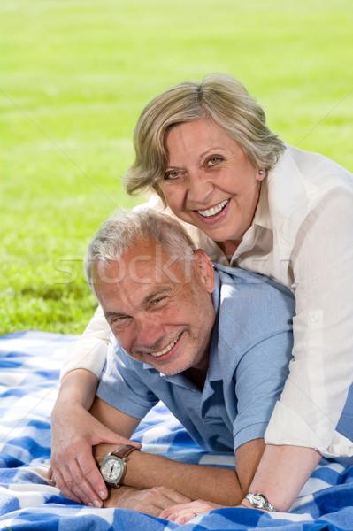 Actief pensioen lachend gelukkig paar Stockfoto © CandyboxPhoto