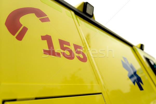чрезвычайных телефон числа знак скорой автомобилей Сток-фото © CandyboxPhoto