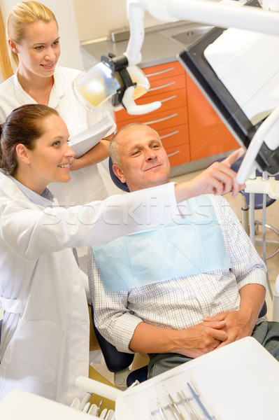 Man patient at dental consultation dentist surgery Stock photo © CandyboxPhoto