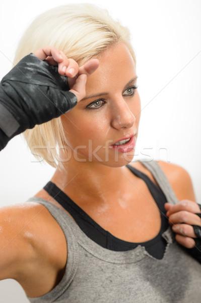 女性 発汗 訓練 厳しい トレーニング 孤立した ストックフォト © CandyboxPhoto