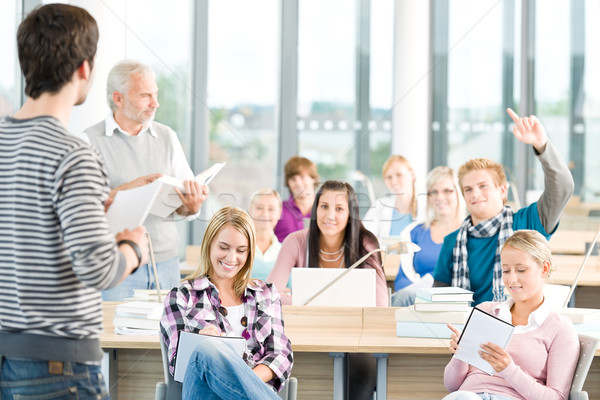 Stock photo: Group of students in classroom
