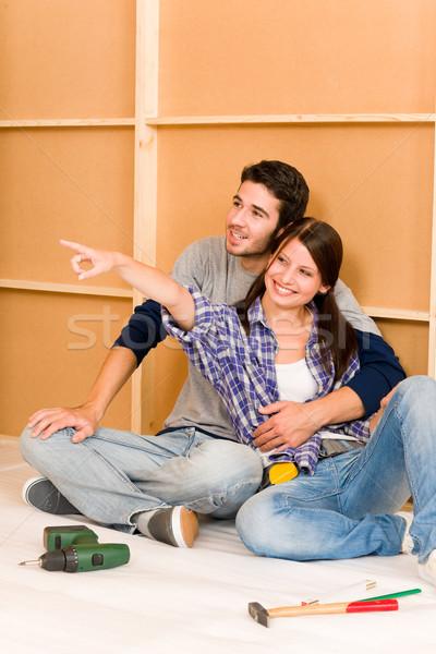 Majsterkowanie relaks piętrze młodych szczęśliwy Zdjęcia stock © CandyboxPhoto