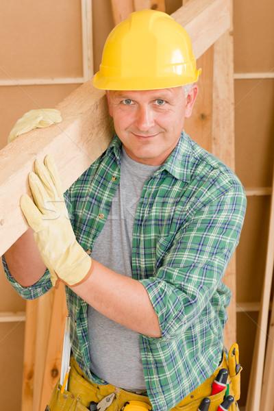 Stok fotoğraf: El · ulağı · marangoz · olgun · ahşap