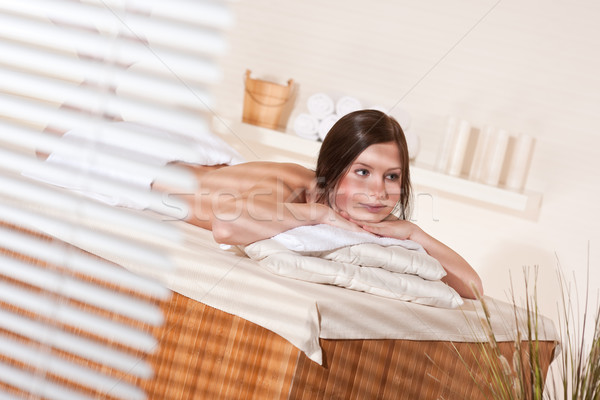 Stock photo: Spa - Young woman at wellness therapy massage