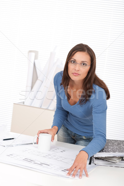 Attractive female architect working at the office Stock photo © CandyboxPhoto