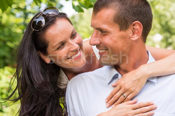 счастливым привязчивый парка портрет Сток-фото © CandyboxPhoto