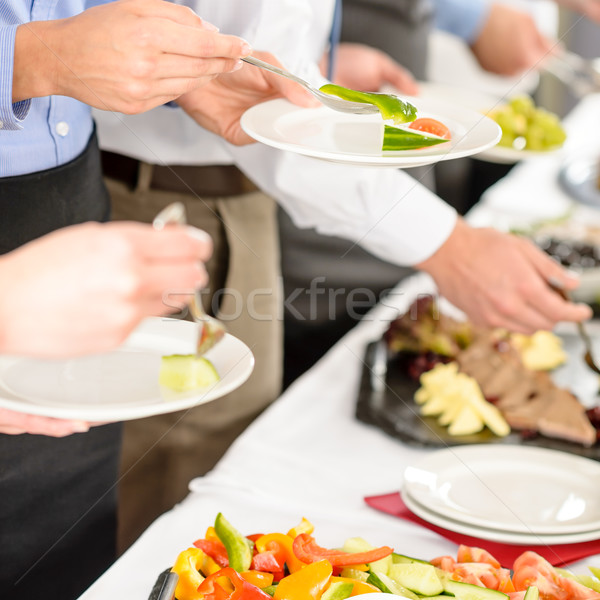 Affaires restauration personnes buffet alimentaire Photo stock © CandyboxPhoto