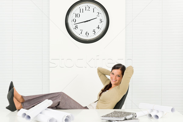 Relax professional architect woman in office Stock photo © CandyboxPhoto