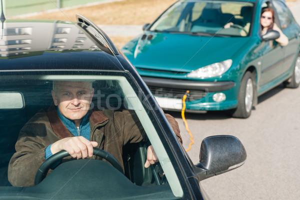 男 支援 女性 車 問題 ストックフォト © CandyboxPhoto