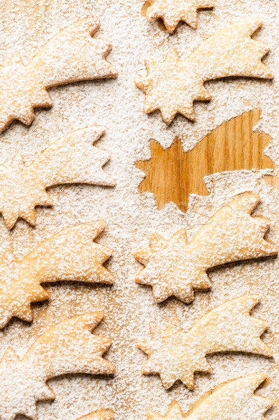 Christmas sweets comet star with powdered sugar Stock photo © CandyboxPhoto