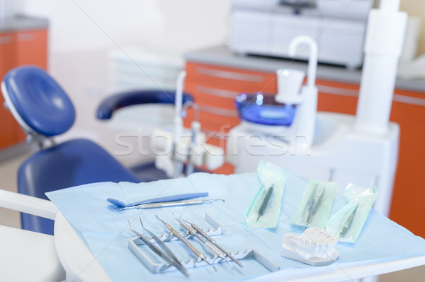 Dental tools on table in stomatology clinic Stock photo © CandyboxPhoto