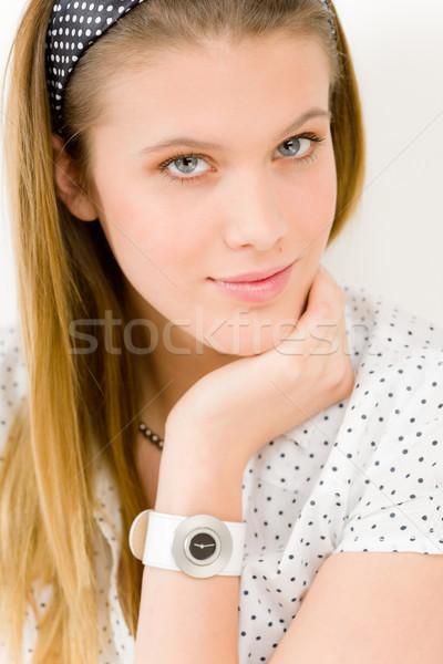 Divat modell nő visel nyár designer Stock fotó © CandyboxPhoto