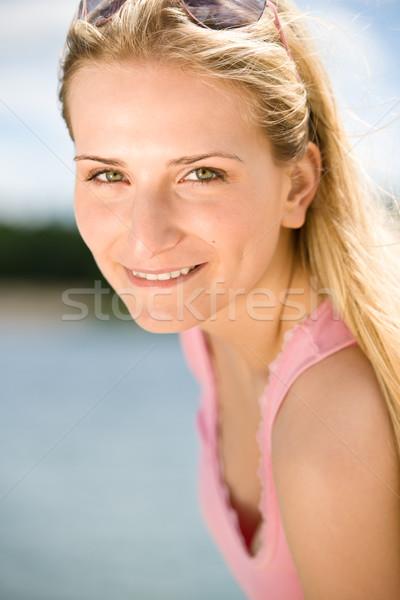 Retrato belo loiro mulher desfrutar Foto stock © CandyboxPhoto