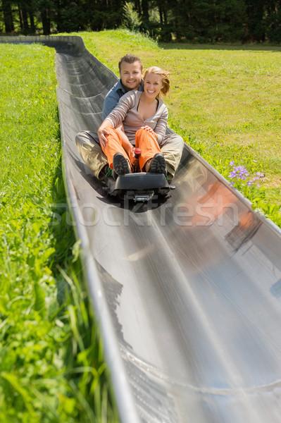幸せ カップル 高山 コースター 肖像 ストックフォト © CandyboxPhoto