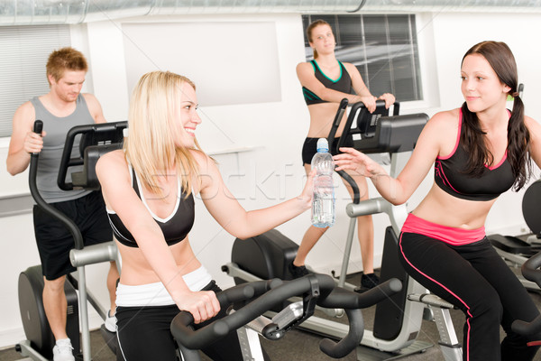 Fitness young girl on gym bike  Stock photo © CandyboxPhoto