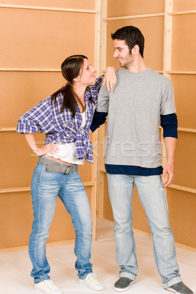 Lakásfelújítás fiatal boldog pár együtt fiatal pér Stock fotó © CandyboxPhoto