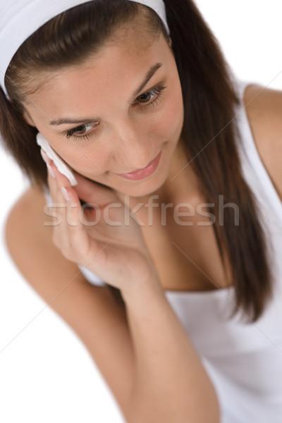Stockfoto: Schoonheid · tiener · vrouw · schoonmaken · acne