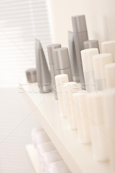 Saç vücut bakım kozmetik şişeler beyaz Stok fotoğraf © CandyboxPhoto