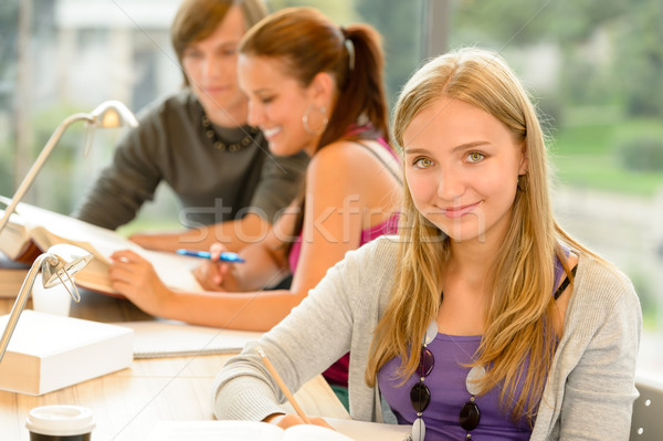 High-school student taking notes in study room Stock photo © CandyboxPhoto