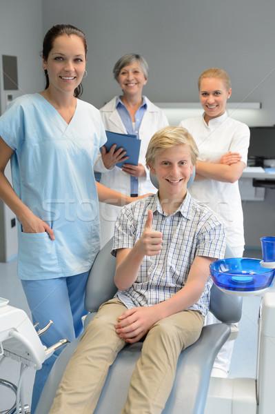 Profesional dentista equipo nino paciente adolescente Foto stock © CandyboxPhoto