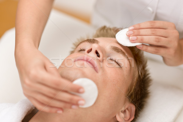 Male cosmetics - cleaning face treatment Stock photo © CandyboxPhoto