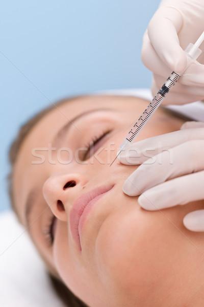Botox enjeksiyonu güzellik tıp tedavi kadın kozmetik Stok fotoğraf © CandyboxPhoto