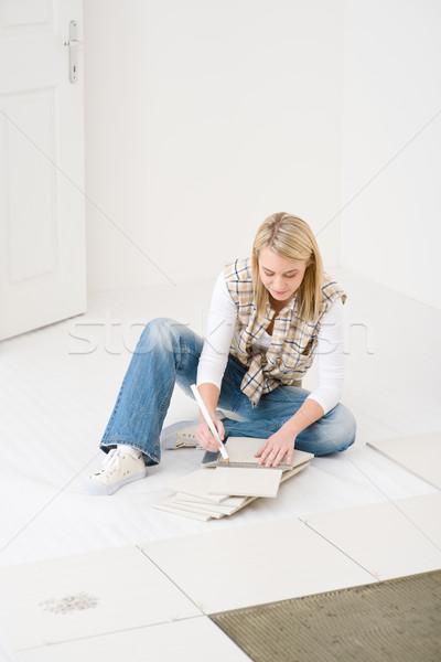 Melhoramento da casa telha casa interior piso Foto stock © CandyboxPhoto