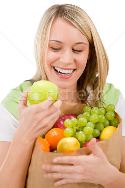 Photo stock: Femme · fruits · Shopping