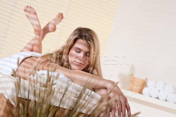 Zdjęcia stock: Spa · młoda · kobieta · wellness · masażu · leczenie · terapii