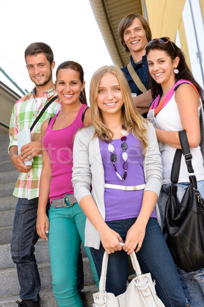Students back to school on college stairs Stock photo © CandyboxPhoto