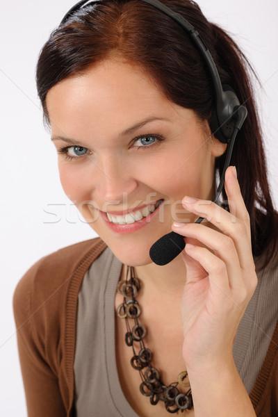 Friendly help desk woman smiling Stock photo © CandyboxPhoto