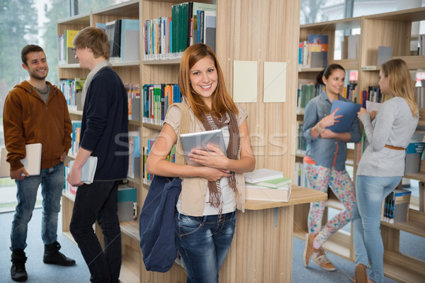 Group of students in college library Stock photo © CandyboxPhoto
