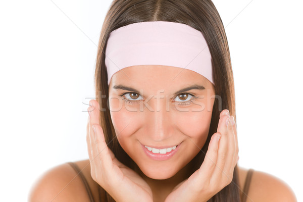 Teenager problem skin care - young woman Stock photo © CandyboxPhoto