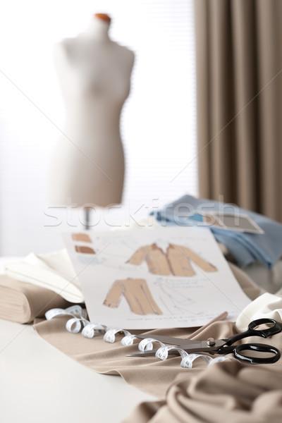 Stok fotoğraf: Moda · tasarımcı · stüdyo · profesyonel · manken