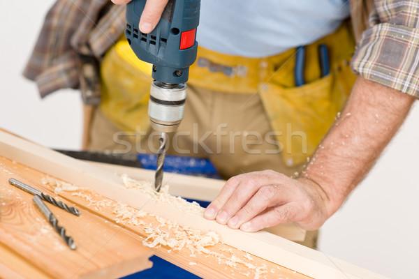 Tuttofare perforazione legno workshop interni Foto d'archivio © CandyboxPhoto