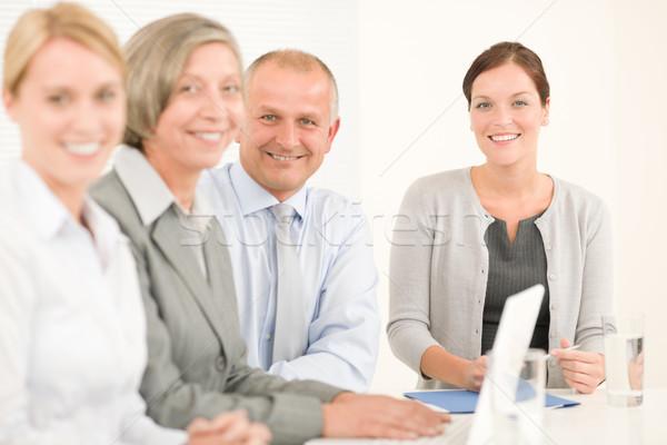 бизнес-команды довольно предпринимателей коллеги привлекательный счастливым Сток-фото © CandyboxPhoto