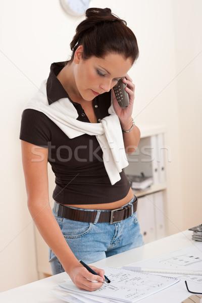 Female architect with telephone  Stock photo © CandyboxPhoto