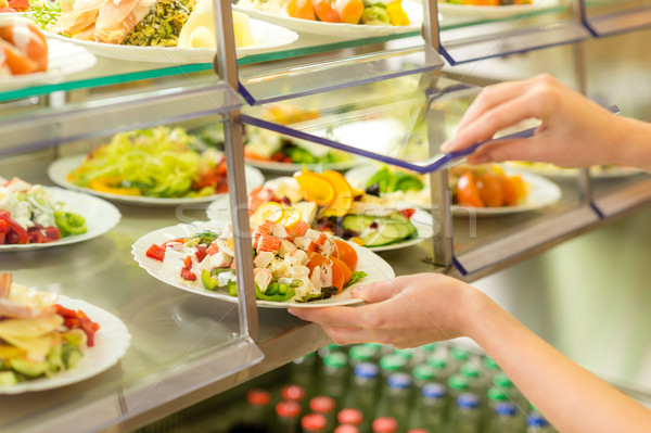 Buffet self service canteen display fresh salad Stock photo © CandyboxPhoto