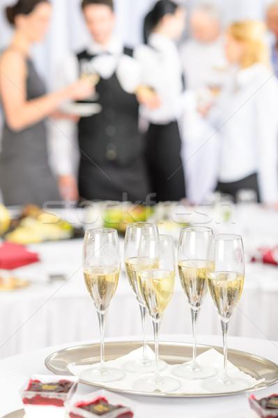シャンパン トースト 眼鏡 会議 参加者 営業会議 ストックフォト © CandyboxPhoto