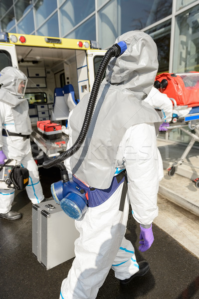 Hazardous material medical team with equipment Stock photo © CandyboxPhoto