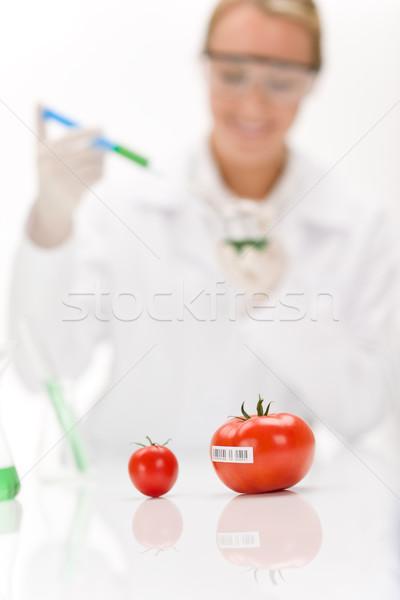 Genetikai mérnöki tudós laboratórium génmanipulált tesztelés Stock fotó © CandyboxPhoto