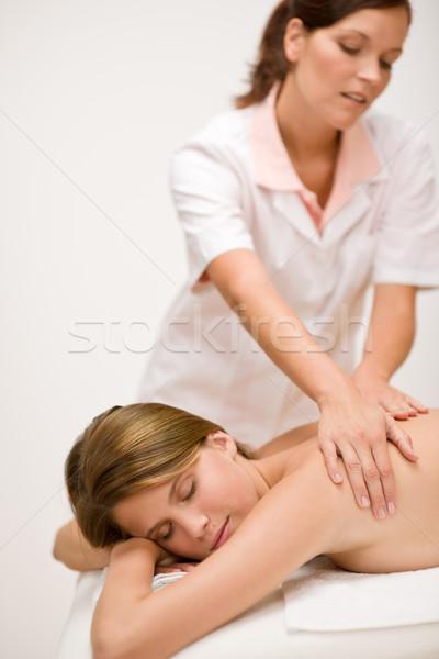 Stock photo: Body care - woman back massage