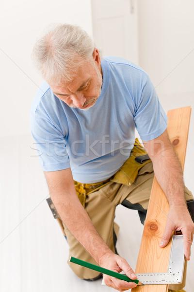 Foto stock: Melhoramento · da · casa · handyman · casa · madeira