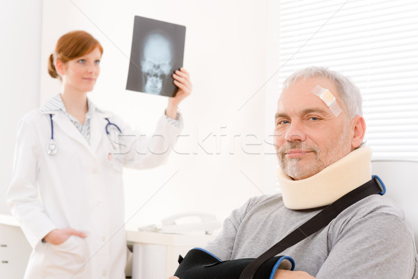 Doctor office - senior patient physician x-ray Stock photo © CandyboxPhoto