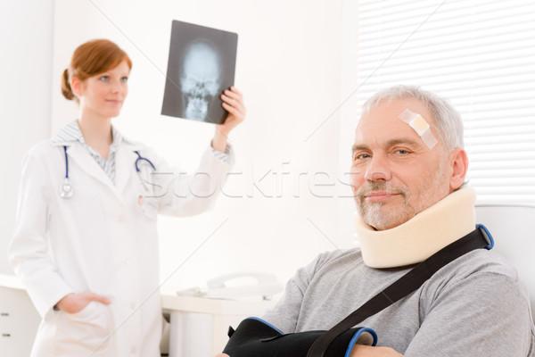 врач служба старший пациент врач Xray Сток-фото © CandyboxPhoto