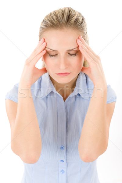 Young woman with headache, migraine Stock photo © CandyboxPhoto