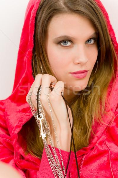 моде модель розовый молодые модный Сток-фото © CandyboxPhoto